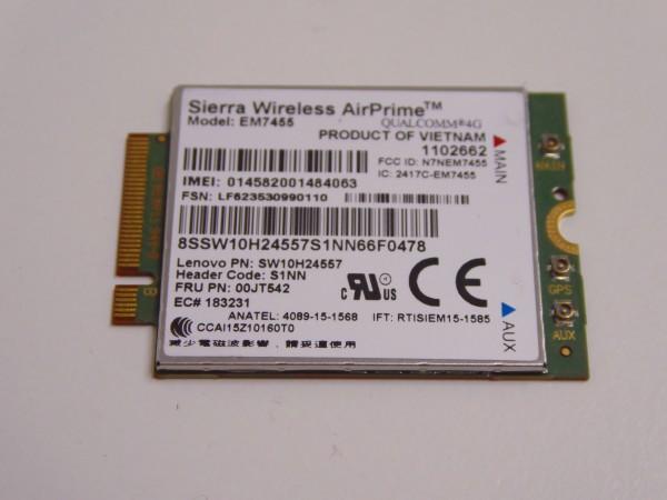 4G LTE Modul Sierra AirPrime EM7455 für Thinkpad X260 T460s T460 T560 Yoga X1 Carbon