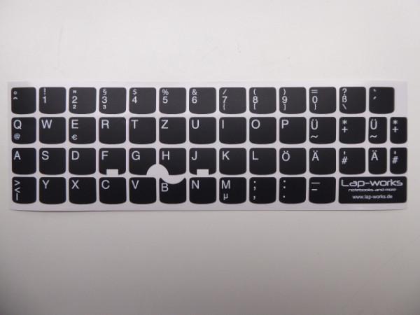 Tastatur Aufkleber Sticker für Lenovo ThinkPad Deutsch für 13 und 12 Zoll Serie